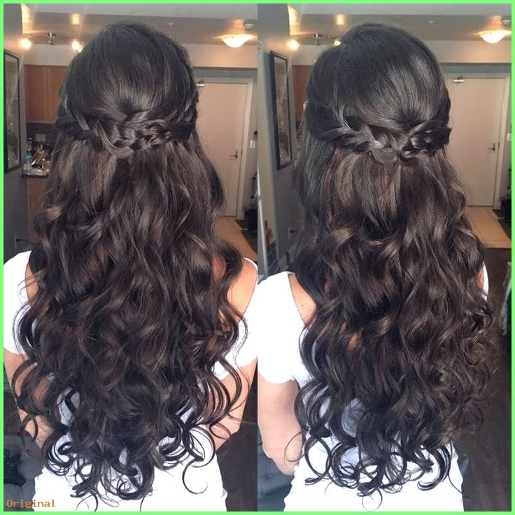 50+ Wallpaper Lange Haarmodelle – Geflochtene halbe Hochsteckfrisur #formaleFrisurenhalbhoch…