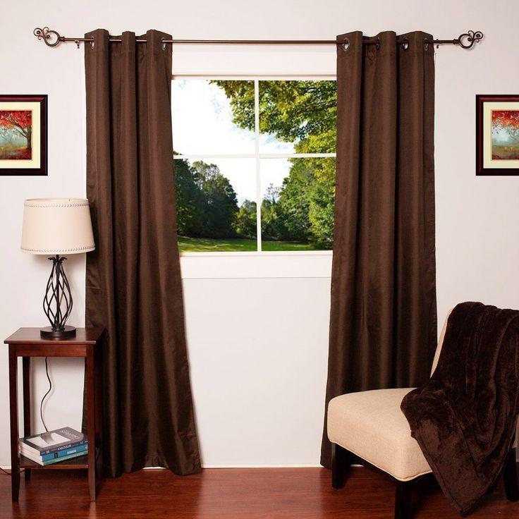 N Faux Silk Blackout Thermal Drape Panels (Set of 2) (