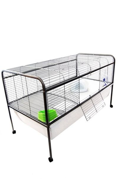 Large indoor rabbit cage on stand with wheels rabbit for Design indoor rabbit cages