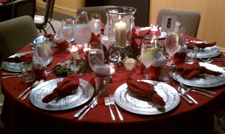 Christmas Table Decor Women S Christmas 2012 Lakeside