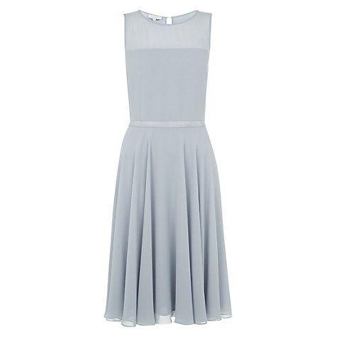 Buy Hobbs Invitation Abigale Dress, Dove Blue Online at johnlewis.com