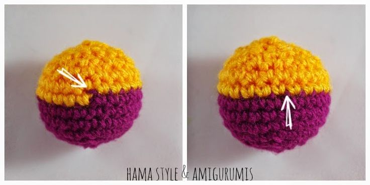 Amigurumi Tutorial en Español. Cambio de Color Perfecto A Crochet - Aquí: http://hamabeadstyle.blogspot.com.es/2015/02/tutorial-cambio-de-color-perfecto.html#more