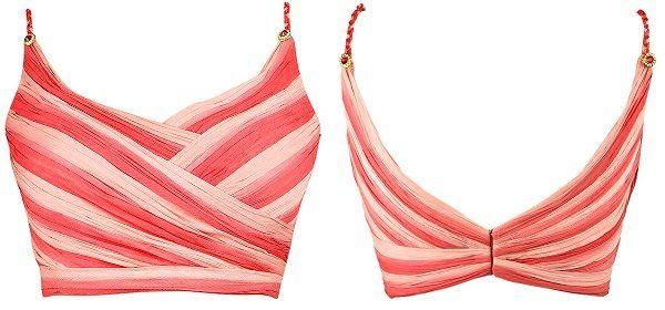 Stylish braided spaghetti straps spaghetti straps saree blouse