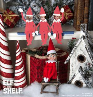 Elf on the Shelf idea - Elf makes family photos into Elves