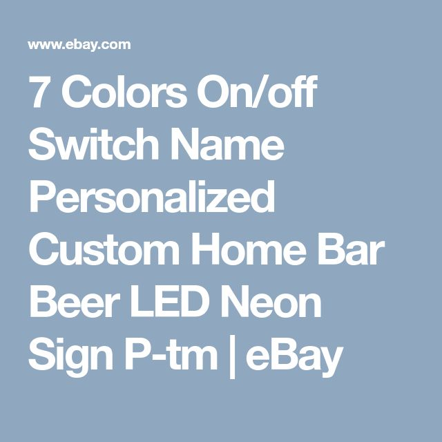 7 Colors On/off Switch Name Personalized Custom Home Bar Beer LED Neon Sign P-tm | eBay