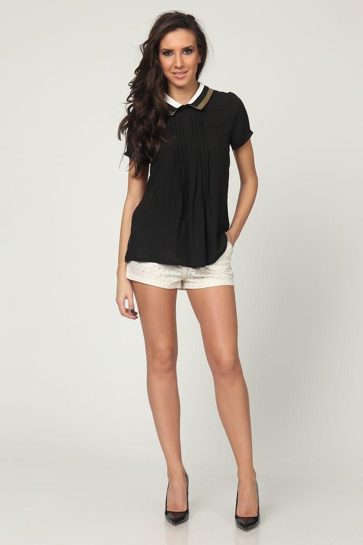 Pantaloni Scurți JOINS #Pantaloni_Scurți #shorts #women_fashion #black_white_fashion