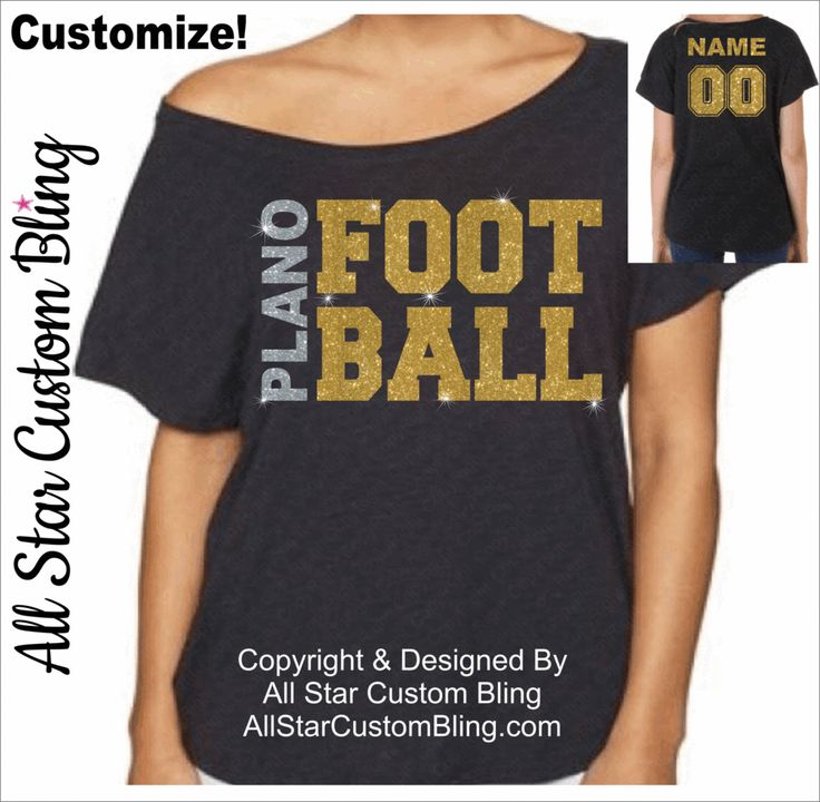 Custom Team Football Dolman Off Shoulder Shirt