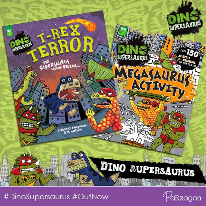 WOWZERS! Not one but TWO new #DinoSupersaurus books! Let us hear you ROARRRRRRR!  #Comic #Activity #PictureBook #Dinosaurs #TimothyKnapman #TimWesson #NikalasCatlow #OutNow #New