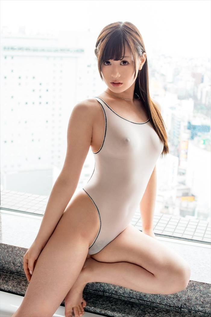 asian in white bathing suit