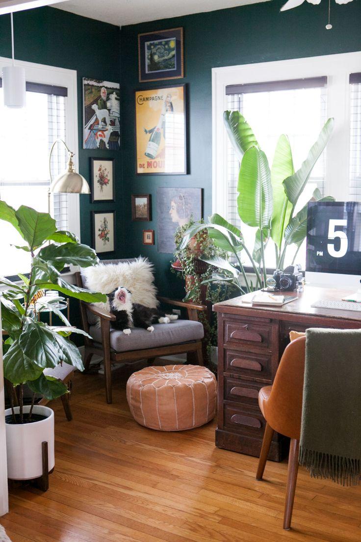 benjamin moore hunter green office  google search