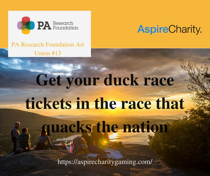 Go in the draw to win amazing prizes whilst helping us give cancer the quack! https://aspirecharitygaming.com/pa-research-foundation-art…/ #charity #win #race