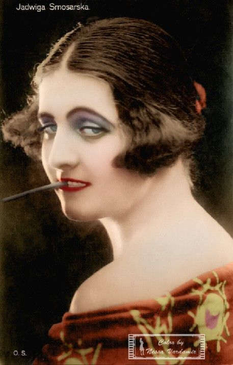 Jadwiga Smosarska... Stare zdjęcia ręcznie kolorowane