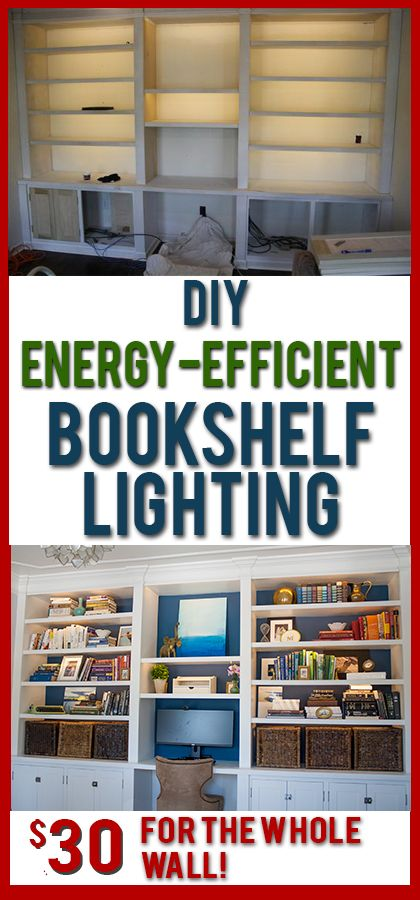 Love these DIY lights for bookshelves or under cabinets. Such soft, even light and it is SO cheap to buy and install!