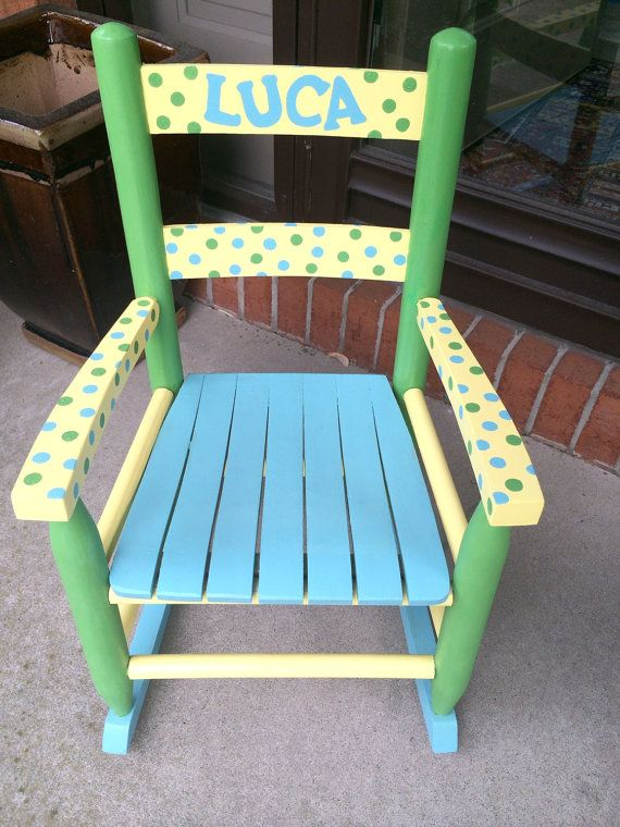 Personalized Rocking Chair . Hand Painted With Any By Weddingroom