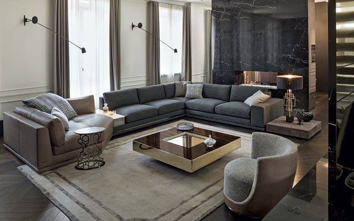 Italian Luxury Furniture Designer Furniture Singapore Da Vinci Lifestyle Corner Sectional Sofa Modular Sofa Design Sofa Design