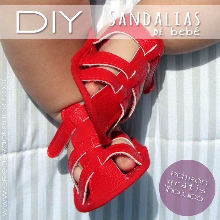 Tutorial paso a baso para confeccionar unas #sandalias de bebé #DIY.  Baby #sandals tutorial