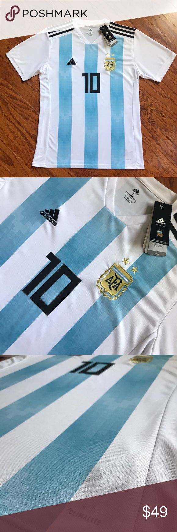 NWT World Cup 2018 Argentina Messi Jersey Brand New With Tags  World Cup 2018 Argentina Messi Adidas Jersey  Size Large adidas Shirts Tees - Short Sleeve