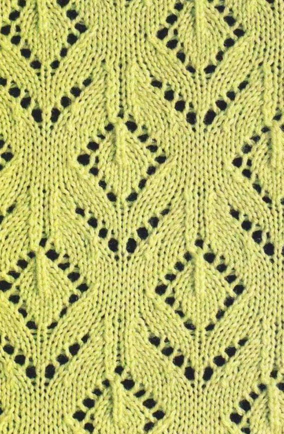 floral lace knitting chart