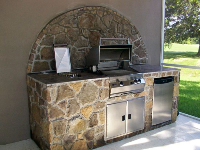 Bbq pits with islands the importance of bbq island plans for Outdoor grill island ideas