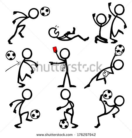 Strichmännchen, stock-vector-stickfigure-soccer-176297942.jpg (450×470)