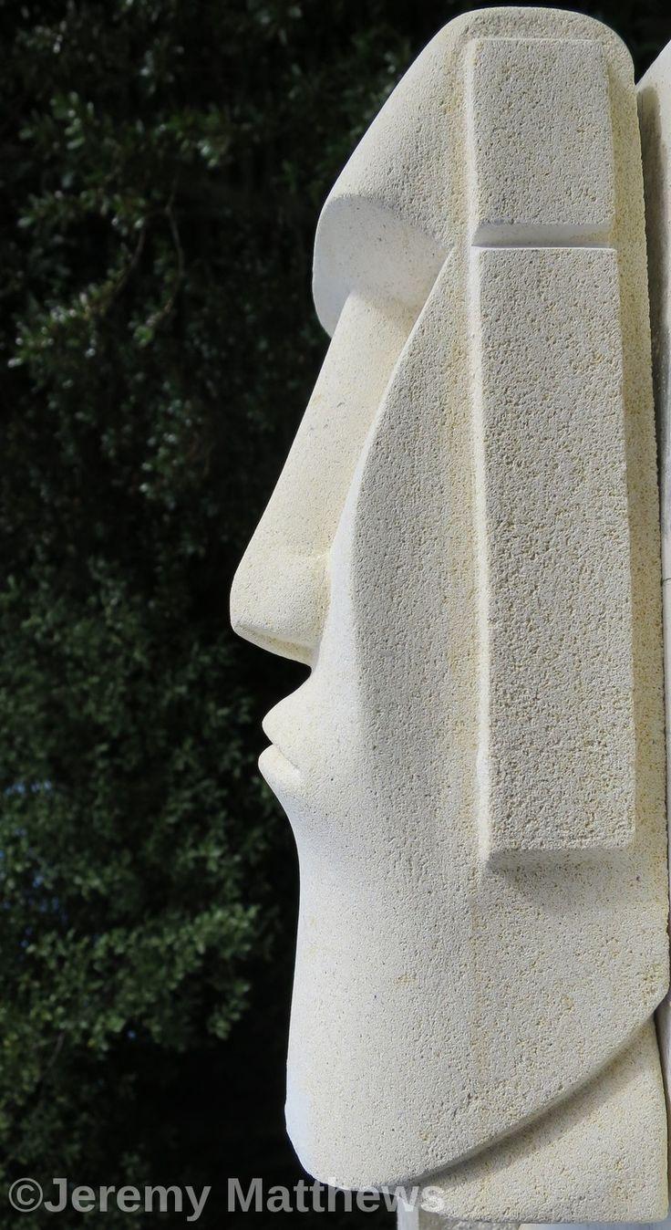 Oamaru stone Easter Island man