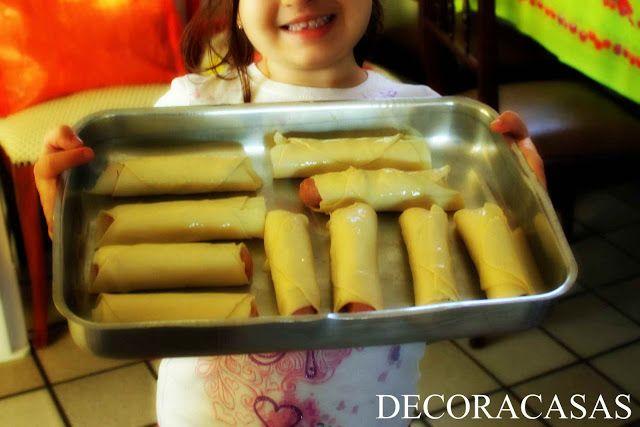 comida de criança (e para criança) enroladinho de salsicha