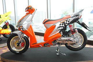 Modifikasi Honda Beat warna orange