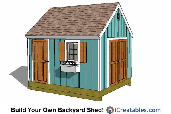 10x12 Shed Plans - Building Your Own Storage Shed - iCreatables