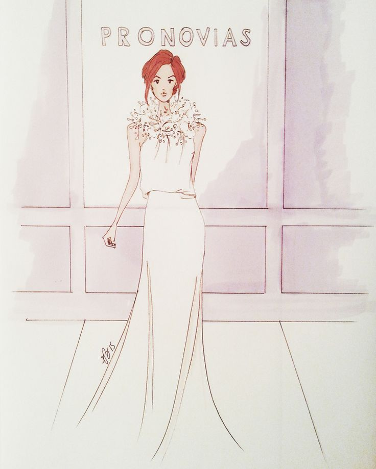 PRONOVIAS - My version #fashionillustration #casabignami #wedding