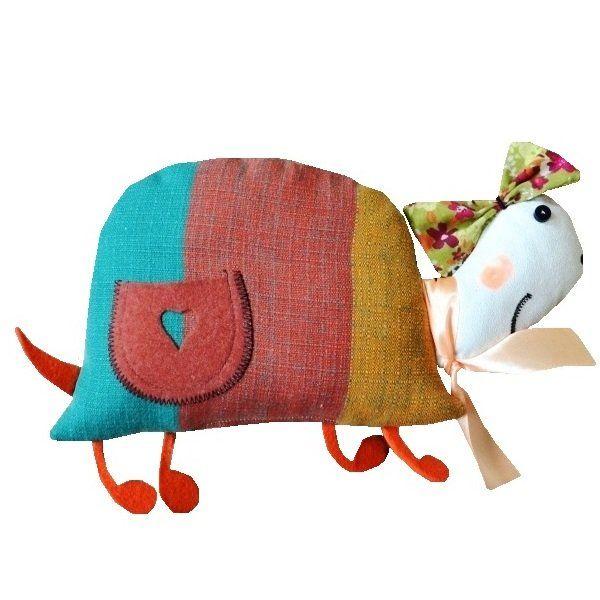 maskotka-przytulanka GOHY milutki żółwik z kieszonką  do zabawy, przytulania, tarmoszenia,......  wym.30cmx20cm