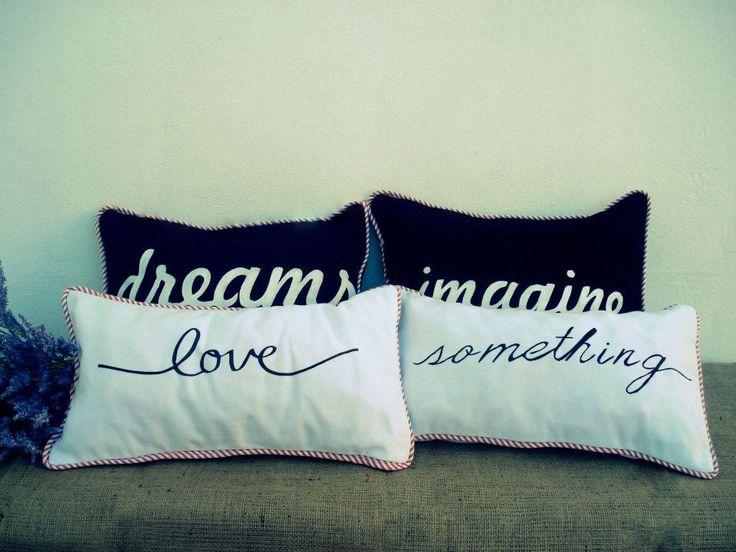 almohadones de diseño pintados - Buscar con Google