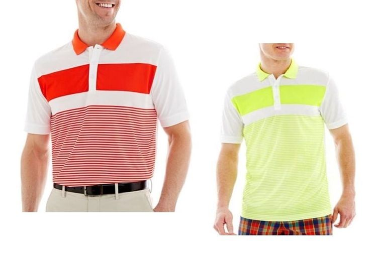 Jack Nicklaus men's polo shirt printed engineered striped stay dry size L XL NEW  16.99 http://www.ebay.com/itm/-/331683431814?