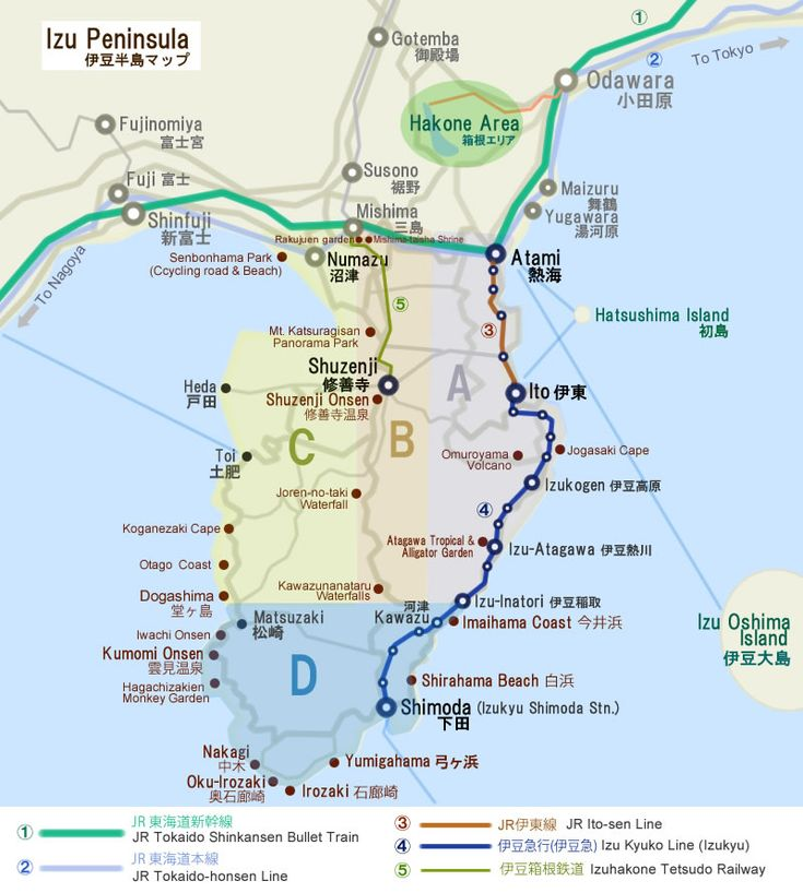 Hidden Attractions in Izu Peninsula (Izu Hanto) | digi-joho Tokyo
