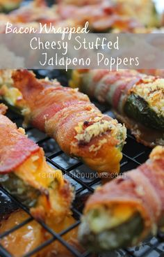 Bacon Wrapped Velveeta Cheesy Stuffed Jalapeno Poppers