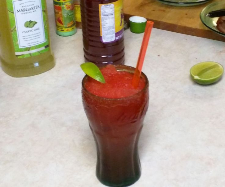What's better on a hot summer day than a cold refreshing drink? The Chamoy Margarita is too complicated to define in a single word, because it's cool, tangy, sweet, salty, spicy and refreshing all at the same time.------------------------------------------------------------------------------------------------------