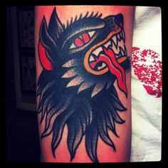american traditional wolf tattoo - Google Search