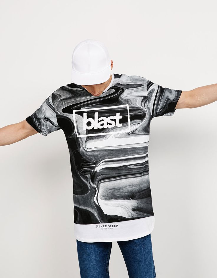 Bershka Mexico - Camiseta capas Blast/Out Loud