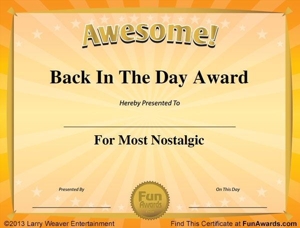 Fun Certificates … | Work Awards | Award…
