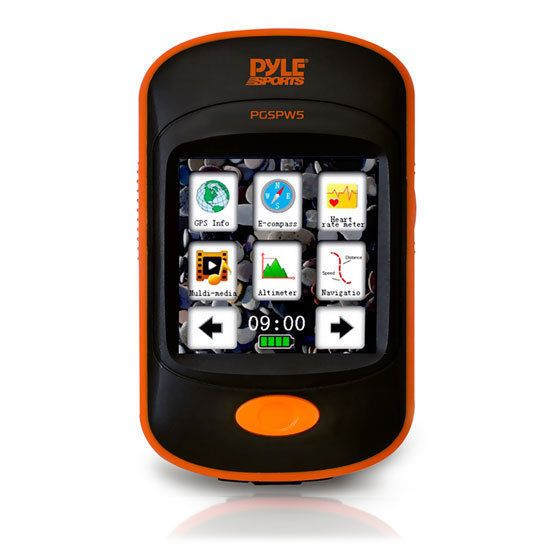 GPS Navigation Sporting Unit with Built-in MP3 Player, Pedometer, Speedometer,