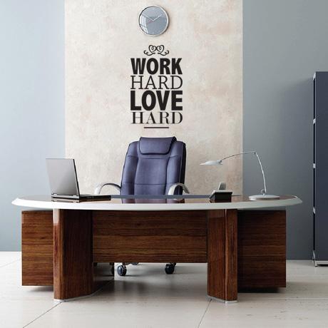 Work Hard Love Hard – Black from Wall & Surface Tattoos - R99 (Save 60%)