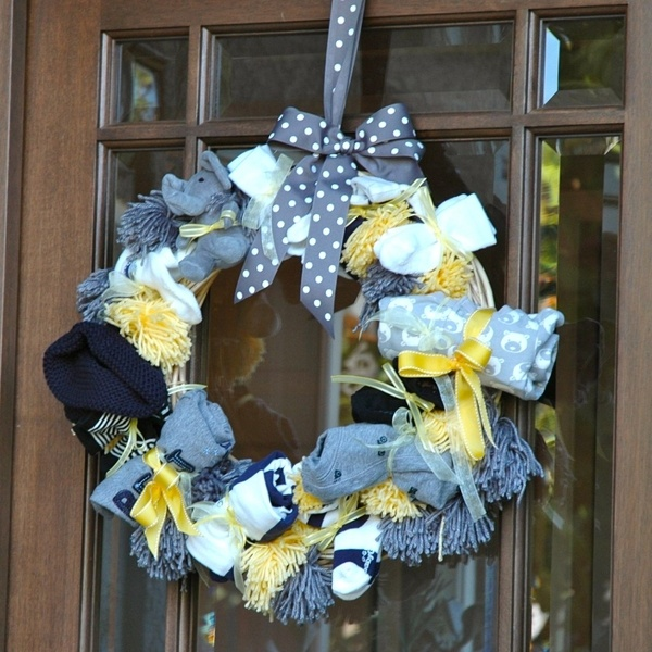 yellow and grey baby shower wreath baby shower ideas maybe a little