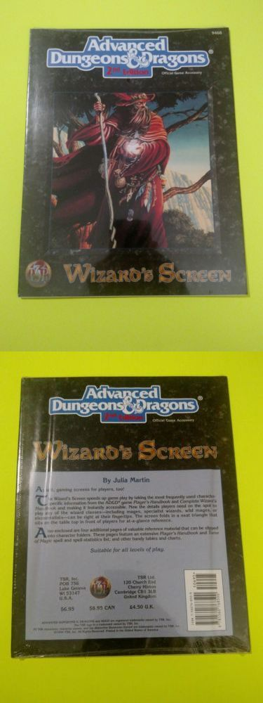 Players Handbooks 158712: Wizard S Screen Advanced Dungeons And Dragons #9468 Tsr Rpg -> BUY IT NOW ONLY: $49.99 on eBay!