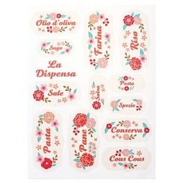 Personalizza i tuoi Barattoli con queste etichette adesivi lavabili dedicate appositamente alla Dispensa da noi di Gusto Menta
