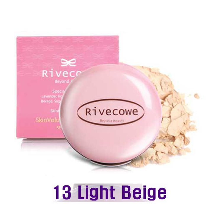 Rivecowe Skin Volume Powder Pact UV Protect SPF30PA++ Herb No.8 Light Beige #13 #RIVECOWE