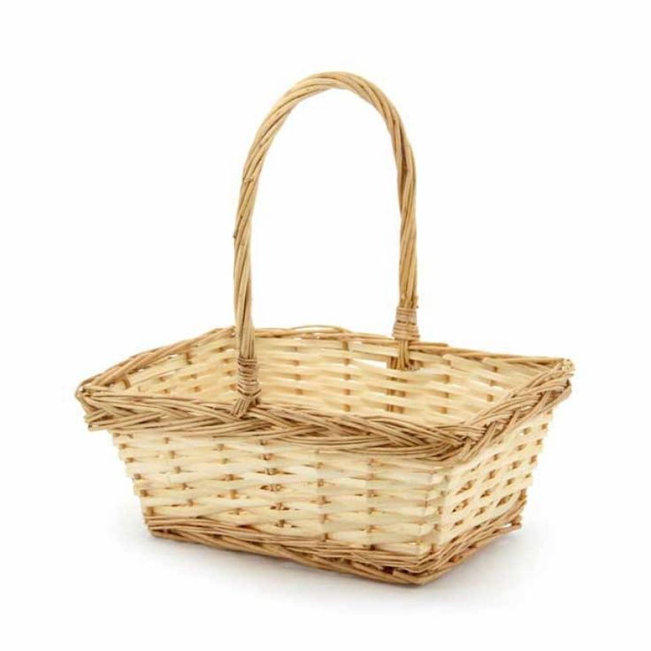 Willow Rectangle Basket 26x21.5x12cmH Each - Natural (10-Bas-356Lemon) | Oceans specialises in the development and wholesale distribution of creative floral and gift presentation solutions. Through providing outstanding customer service, and maintaining superior delivery standards, Oceans has a well-earned reputation as market leaders in New Zealand's floral and gift packaging industry. Wedding, Wedding DIY, Favour, gifts,Christmas,