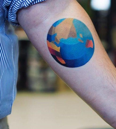 25+ Best Ideas About Globe Tattoos On Pinterest