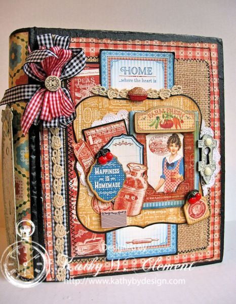 Home Sweet Home Altered Recipe Book/Kathy Clement