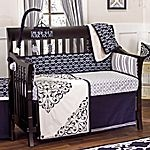 OK even though I said I was sick of seeing BLUE BLUE BLUE.....I love this chic and sophisticated bedding that's for a baby boy!