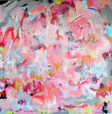 """Artist: Monika Holte; Acrylic 2014 Painting """"See you"""""""