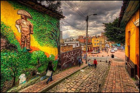 Ruelle colorée de Bogota, Colombie